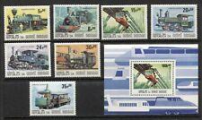 GUINEA BISSAU: TRAINS, RAILWAYS, RAILROADS, LOCOMOTIVES, Scott 619-625,625A. MNH