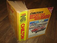 Chilton's Import Car Manual 1982 - 1989