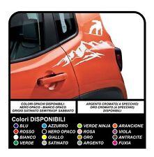 Adesivi per Jeep Renegade montagna e snowboard sportello portiera posteriore