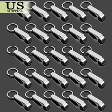 25X Keychain Bottle Opener Silver Key Ring Metal Bar Party Tool Beer Claw Gift