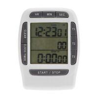 Digital LCD Mehrkanal-Timer Countdown-Labor 3-Kanal 99 Stunden zum Kochen