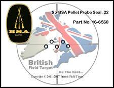 5 x BSA Pellet Sonda Seal .22 parte no. 16-6560 NEW