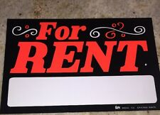 "For Rent Sign Guc By Duro Decal Co 10.5"" X 7"""