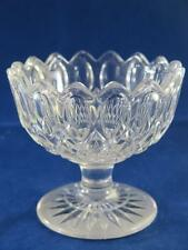 VINTAGE HEAVY CRYSTAL GLASS Sweet or Bon Bon Dish on Pedestal Frosted Base