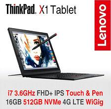 ThinkPad X1 Tablet i7 3.6GHz FHD+ 16GB 512GB NVMe 4G LTE + WiGig 2Y ADP Warranty