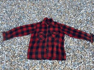Vintage 80s Archdale 100% Wool Zippered Plaid Jacket *Flawed* Size M/L