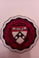 "University of Pennsylvania Vintage Embroidered Iron On Patch 3"" x 3"""