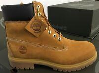 TIMBERLAND PREMIUM 6 IN Waterproof Boot Men's Wheat Nubuck Boots TB010061 MH