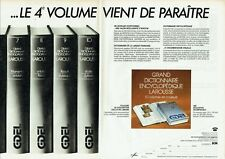 Publicité Advertising 019  1983  GDEL dictionnaire encyclopédie Larousse (2pages