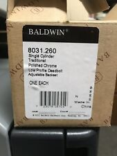 Baldwin 8031.260 Traditional Single Cylinder Deadbolt in Polished Chrome