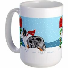 11oz mug Blue Merle Sheltie Mail Large