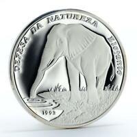 Guinea-Bissau 20000 pesos Defense of Nature Elephant silver coin 1993