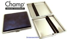 Cigarette Case -- Champ Vintage Leatherette Blue 20 King Size -- NEW chks28