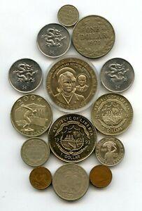 Liberia 14 Münzen 1941-2003  11 verschiedene   # 515