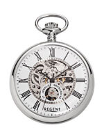 REGENT P-561, SKELETON, žepna ura - pocket watch -Taschenuhr