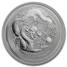 Perth Mint Australia 2012 Lunar Dragon 1/2 oz .999 Silver Coin