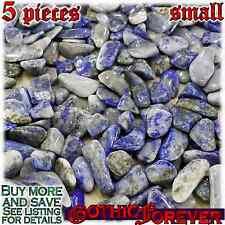 5 Small 10mm Combo Ship Tumbled Gem Stone Crystal Natural - Lapis Lazuli Gray