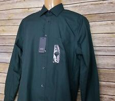 Arrow Green Long Sleeve Wrinkle Dress Shirt Men Small S 14 14.5 32/33