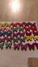 decorazioni merceria 30 bottoni farfalle colorati in legno con 2 buchi