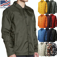 Mens COACH JACKET Windbreaker Coat Active Sportswear Waterproof Camo Golf