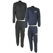 EMPORIO ARMANI EA7 tuta completo uomo felpa con zip pantalone blu grigio 6ZPV51