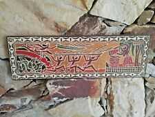 Palau Story Board Storyboard Wooden Wood Carved Micronesia Tiki Pacific Artwork