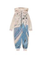 Promotion Pyjama 1 pièce en polaire fille La reine des neiges du 3 ans au 12 ans
