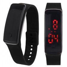 Black Sports Silicone Band Date Digital LED Watch Men Women Wrist Watches