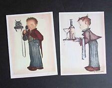 2 Hummel Vintage Greeting Cards At Your Service 1940s Unused Ars Sacra Free Sh