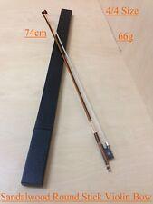 4/4 Size Caraya Model C Professional Violin Bow Sandalwood Round Stick Hard Case