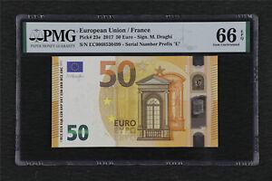 2017 European Union / France 50 Euro Pick#23e PMG 66 EPQ Gem UNC