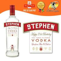 PERSONALISED VODKA BOTTLE LABEL BIRTHDAY ANY OCCASION GIFT