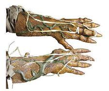 HALLOWEEN ADULT PUMPKIN ROT  HANDS GLOVES MASK PROP