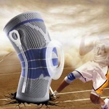 Sports Silicone Padded Knee Support Sleeve Nylon&Silicon Brace High Compression