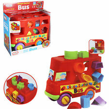 Funtime Bus Shape Sorter Sorting Fun Push Along Activity Toy 12 Months
