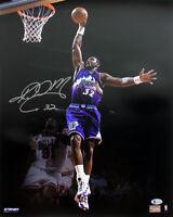 "Jazz Karl ""Mailman"" Malone Authentic Signed 16X20 Photo BAS Witnessed"