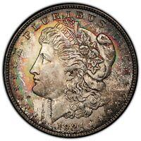 1921-P PCGS MS 63+ Morgan Silver Dollar! ORIGINAL UNIQUE RAINBOW TONING