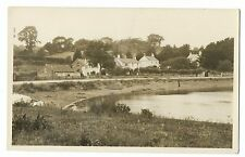 Unidentified Early 20th c View of Village House & Pond, RP PC, Location Unknown