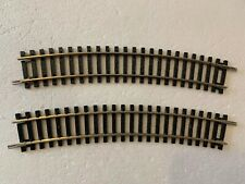 2x R606 HORNBY 2nd RADIUS STANDARD CURVE TRACK NICKEL SILVER FREE POST