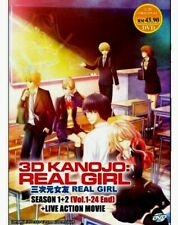 DVD 3D Kanojo : Real Girl Season 1+2 Vol.1-24 End + Live Action Movie + Tracking