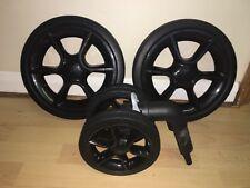Quinny Moodd/ Buzz Full Set Of Black Wheels, Two Rear, One Front, Foam Filled