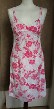 Sleeveless Pale Pink Dress with Pink Floral Pattern - Size 8 - Next