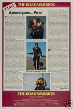 The road warrior Mad Max 2 cult movie poster print