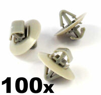 100x Plastic Clips for Vauxhall Vivaro Side Moulding/ Lower Protection Door Trim