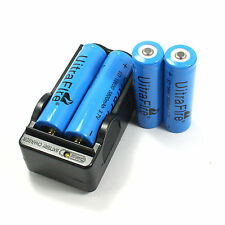 4 Pcs Batteries 18650 3800mAh 3.7v li-ion Rechargeable Battery & Charger