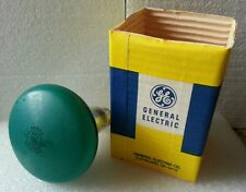 Vintage GE Frosted Green 75W Incandescent Reflector Lamp Bulb NOS