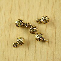 50pcs dark gold tone leaf Charms Findings h0615