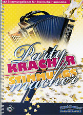 Steirische Harmonika Noten : Partykracher - Stimmungsmacher m. CD GRIFFSCHRIFT