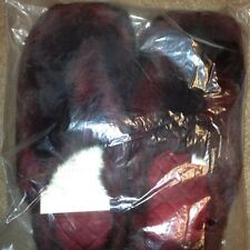New Pottery Barn Women's Faux Fur Slippers Size Medium Large