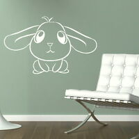 CUTE RABBIT Baby Nursery wall sticker transfer graphic vinyl large decal nin4